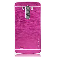 Чехол Motomo Line Series Metal + PC для LG G3 D855 Pink