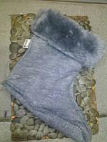 Детские резиновые сапожки Литма и утеплитель к ним 24, серый