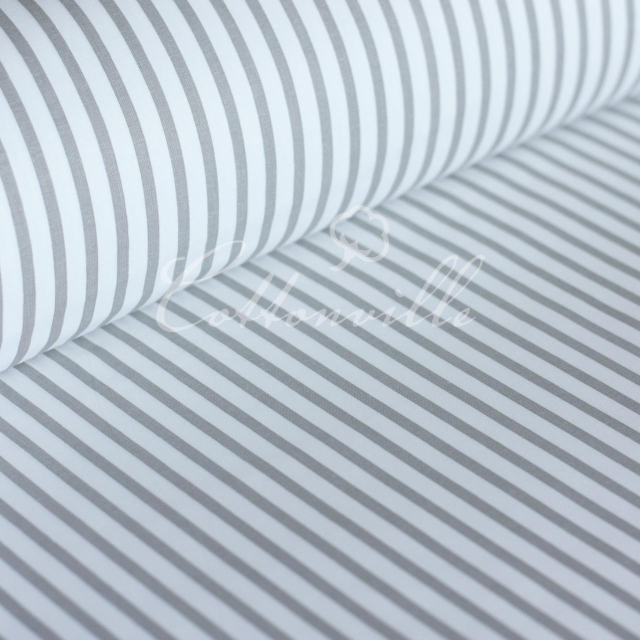 Уценка! Бязь Полоски 6/10 мм серые