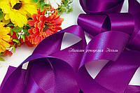 Лента атласная 5см оптом сочный фиолет 33 метра