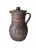 Кувшин керамический коричневый малый СК (Станиславcкая глиняная посуда)
