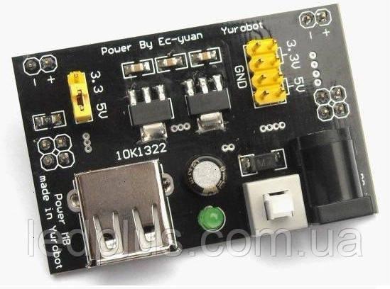 Стабилизатор напряжения 3,3В + 5В для макетной платы MB-102