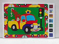 Аппликация цветной фольгой Машина, фото 1