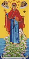 Картина для вышивки бисером А3 Икона Божией Матери Игумении Горы Афонской КМИ 3002