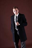 Пальто мужское демисезонное 1213 079  черное, фото 1
