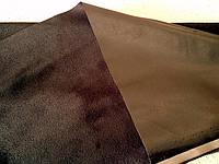 Искусственная кожа стрейч на замше  (черная)