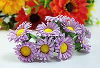 Цветы ромашечки сиреневые 2см декоративные уп./10 цветочков