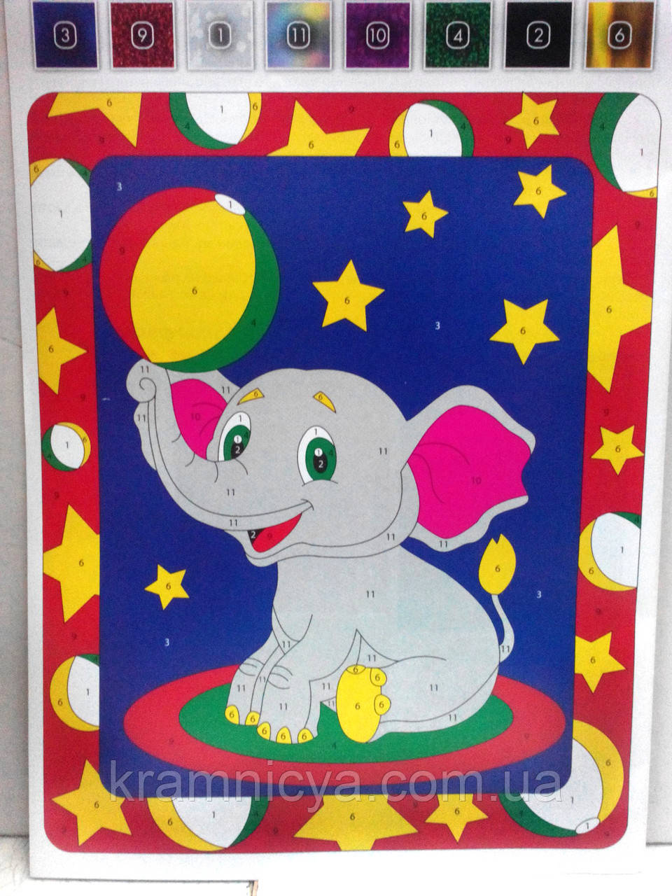 Аппликация цветной фольгой Слонёнок