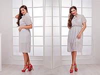 Платье женское короткое шифоновое с коротким рукавом P2806