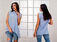 Рубашка женская летняя с коротким рукавом P2815