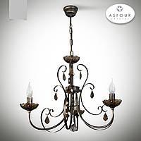 Люстра 3 ламповая с хрусталем для небольшой комнаты, спальни, кабинета