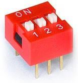 DS1040-03RN, DIP переключатель 3pin красный