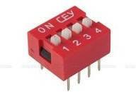 DS1040-04RN, DIP переключатель 4pin красный