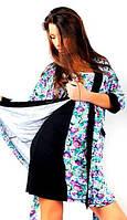 Женский комплект, домашняя одежда, домашний трикотаж: ночная сорочка и халат в комплекте. Разные цвета, размер
