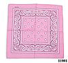 Бандана классическая розовая