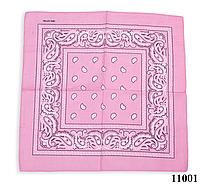 Бандана класическая розовая