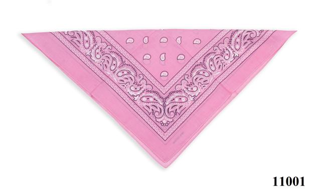 Бандана класическая розовая 3