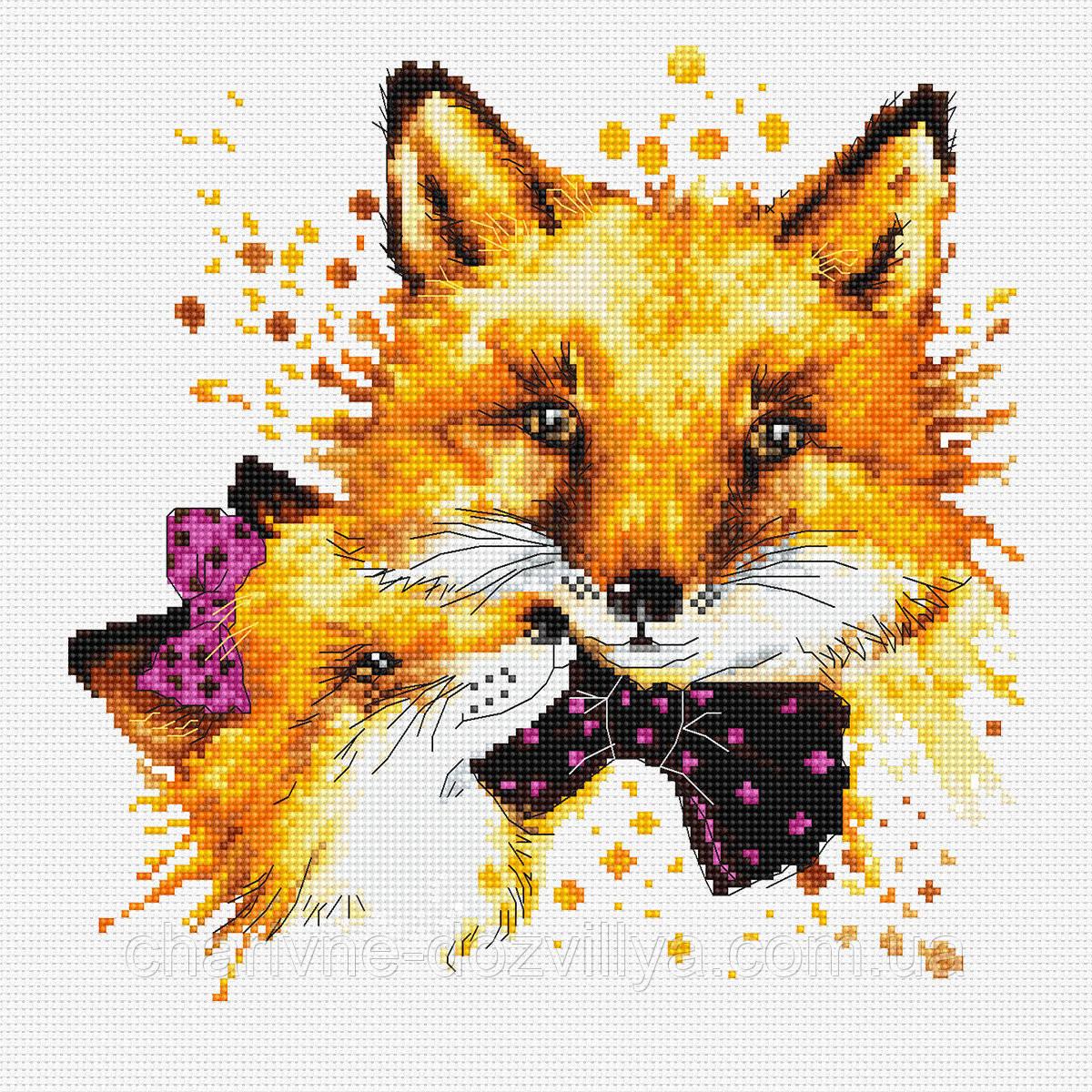"""Набор для вышивания крестиком (животные) """"Лисицы"""""""