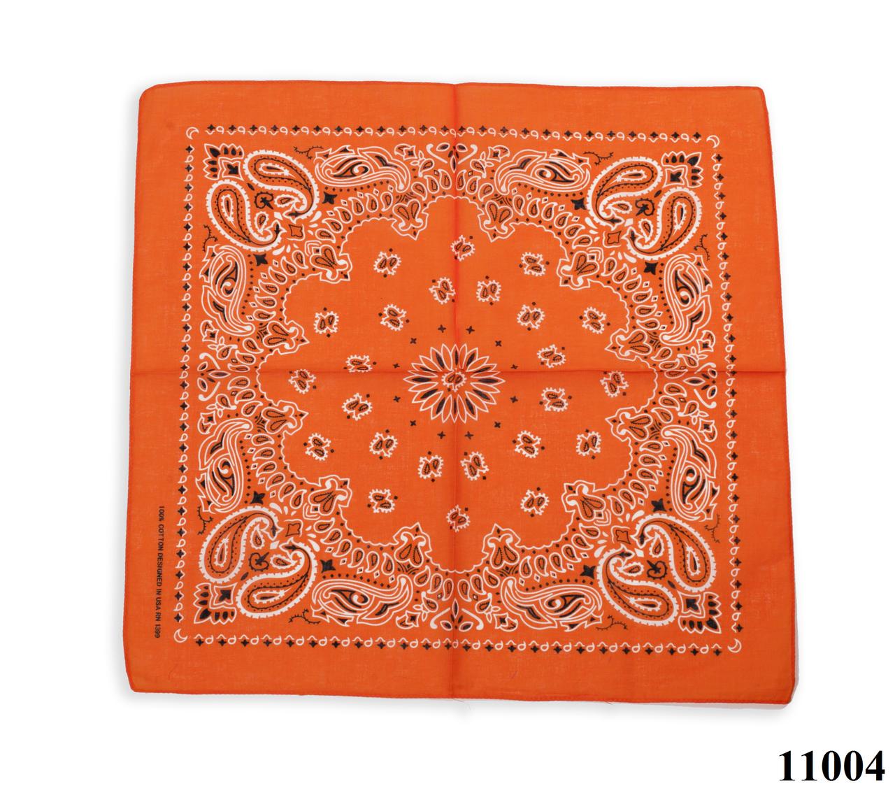 Бандана классическая оранжевая, фото 1