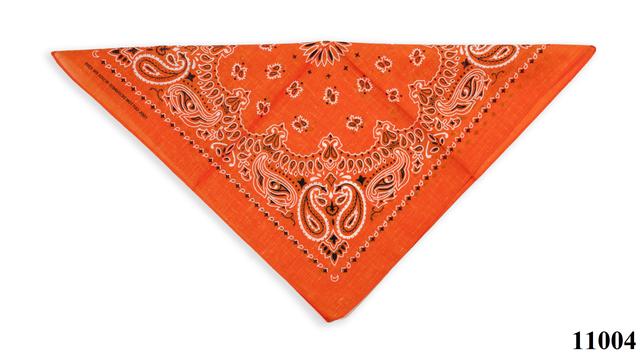 Бандана класическая оранжевая 3
