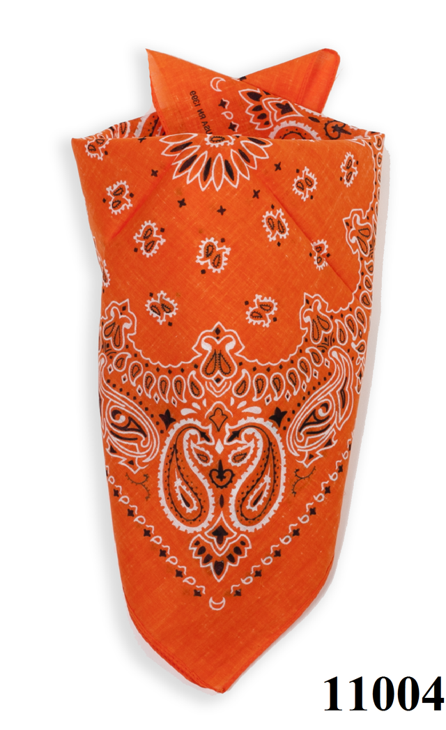 Бандана класическая оранжевая 4