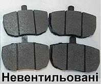 Передние тормозные колодки для DAF 400 LDV Convoy (89-06). Не вентилируемый тормозной диск.