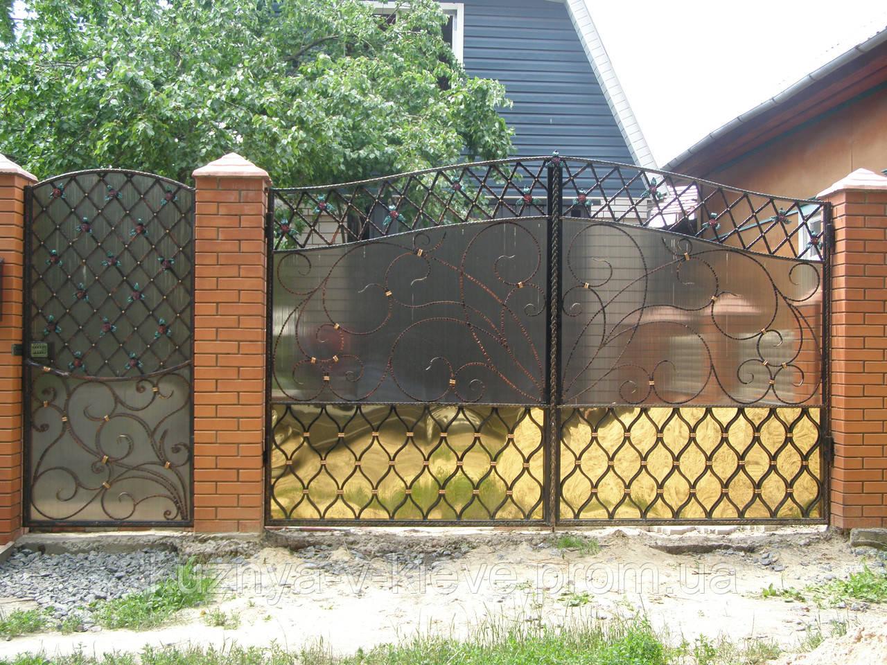 Ворота кованые009
