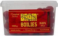Бойлы Brain Strawberry (Клубника) Soluble 1000 gr, mix 24 mm