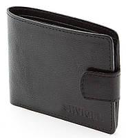 Качественный мужской кошелек из натуральной кожи в черном цвете Shvigel 00419