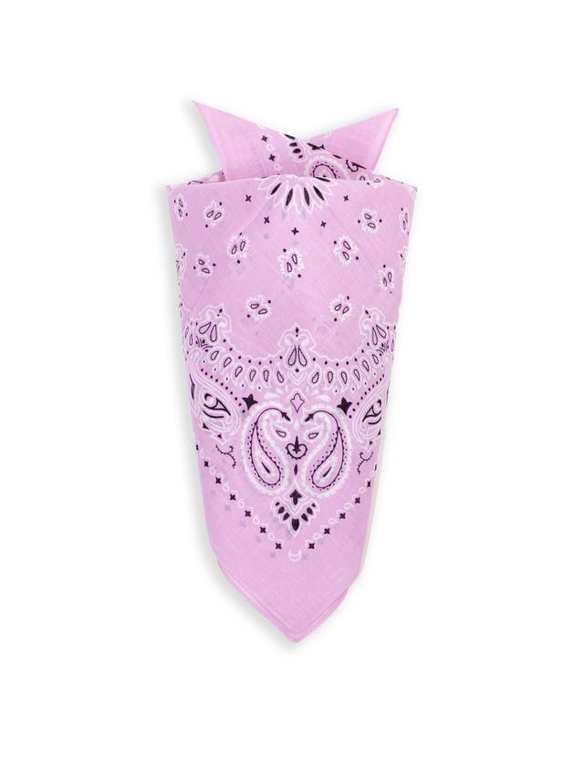 Бандана класическая бледно-розовая 4