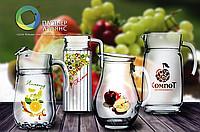 Стаканы и кувшины для сока, воды и молочной продукции