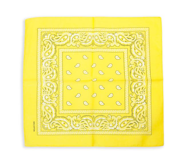 Бандана класическая желтая 1