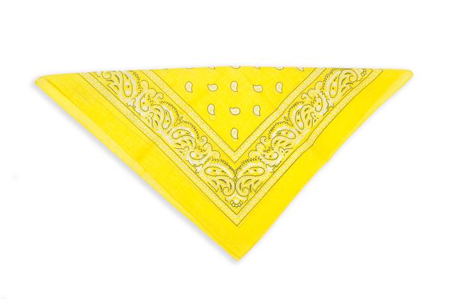 Бандана класическая желтая 3