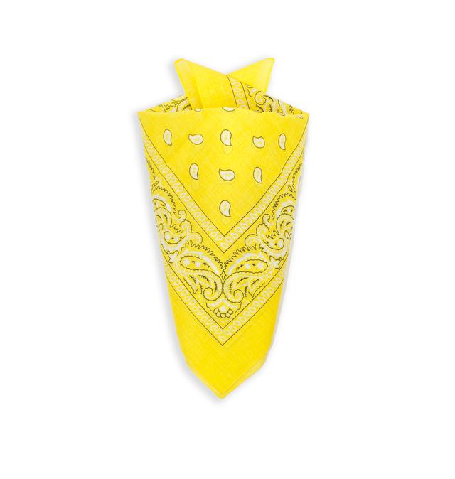 Бандана класическая желтая 4