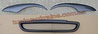 Решетка радиатора и реснички фар для Chevrolet Lanos Хэтчбек