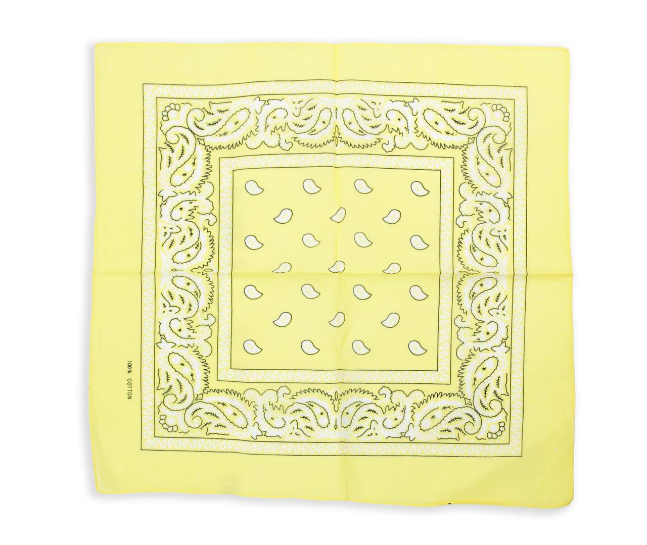 ⭐Бандана классическая бледно-желтая