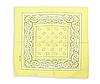 Бандана классическая бледно-желтая