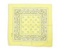 Бандана класическая бледно-желтая