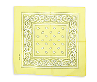 Бандана классическая бледно-желтая, фото 1