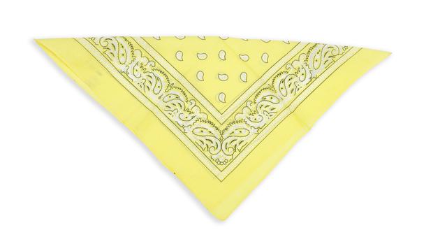 Бандана класическая бледно-желтая 3