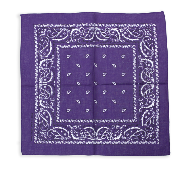 Бандана класическая фиолетовая 1