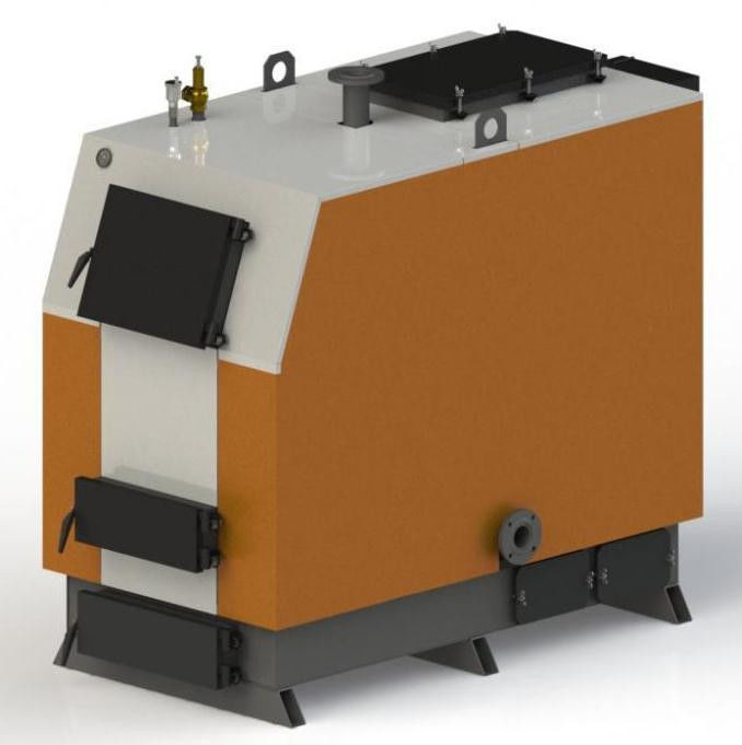 Промышленный стальной  котел на твердом топливе длительного горения Kotlant (Котлант) КВ 500