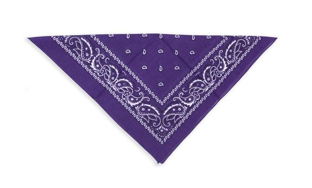 Бандана класическая фиолетовая 3
