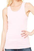 Майка Bella + Canvas Women's Baby Rib Tank Pink