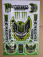 Наклейки MONSTER ENERGY 2 -  26х17см