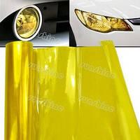 Пленка для тонировки фар Желтая золотистая - ширина 40 см, фото 1
