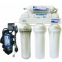 Бытовая система очистки воды с системой обратного осмоса USTM RO6-WFU with pomp