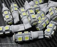 Светодиодные LED лампы Т10 на 9 светодиодов -  2 шт.