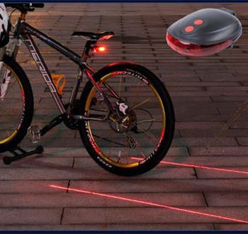 Велосипедный задний фонарь с лазерными полосами, фото 1