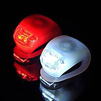 Передний велосипедный фонарь с двумя диодами. Белый , фото 1